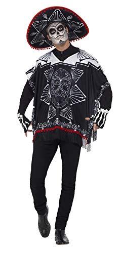 Toten Catrina La Der Kostüm Tag - Smiffys 41587 - Herren Tag der Toten Bandit Kostüm, One Size, schwarz/weiß