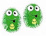 2 Kühlpads Frosch Wärmepad mehrfach Kompresse Kühlkissen Kinder wärmen kühlen