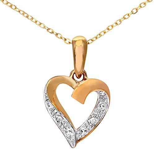 Naava - Collar para mujer, con oro amarillo de 9 quilates (375/1000)...