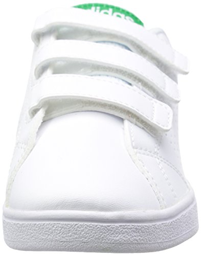 adidas Vs Advantage Clean, Sneakers Basses Mixte Enfant Blanc (Ftwwht/ftwwht/green)