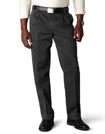 Dockers Men's Signature Khaki D3 Classic Fit Pleated Pant,Charcoal Heather,32x30
