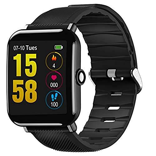 IFMSAN Herzfrequenzmesser,Smart Watch, Schrittzähler, Schlafmonitor, Fitnessmonitor, Kalorienzähler FitnessarmbandiOS Android Ip67-DREI Farben optional