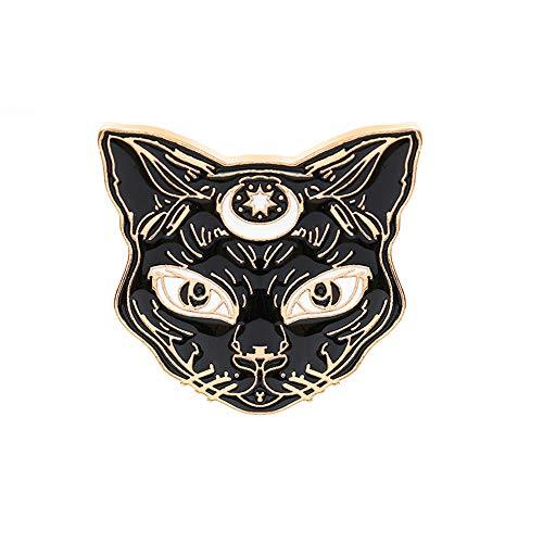 Vektenxi Premium Qualität Schwarze Katze Brosche Schmuck Mantel Kleidung Emaille Pin Halloween Zubehör
