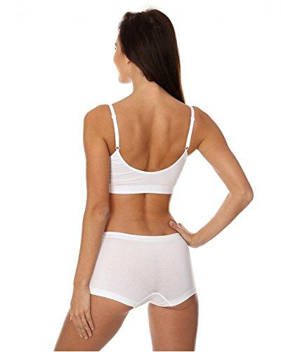 Brubeck Perfect Fit BRA BH (Baumwolle Smooth Skin Sport-BH nahtlos Unterwäsche) White / A