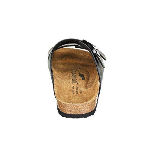 JOE N JOYCE London SynSoft sottopiede morbido sandali stretto Black