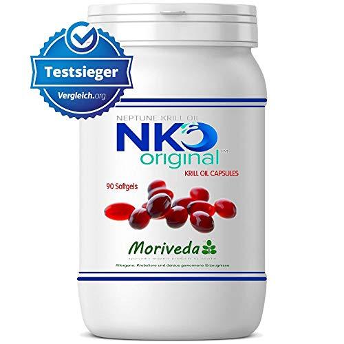 NKO Krillöl Kapseln (Testsieger) 30, 90 oder 270 Stk. in Apothekenqualität - Omega 3,6,9 Astaxanthin, Vitamin E, Choline, Phospholipide, Krill Öl (90 Softgel Kapseln)