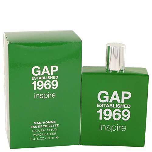 Gap 1969 Inspire by Gap Eau De Toilette Spray 3.4 oz for Men - 100% Authentic by GAP