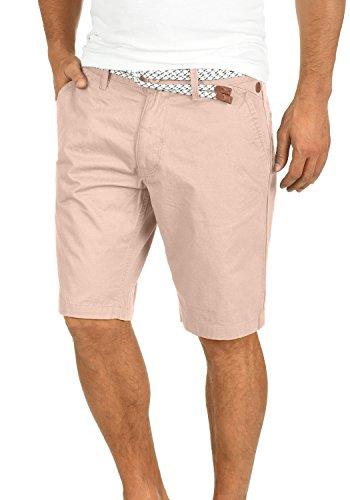 Blend Ragna Herren Chino Shorts Bermuda Kurze Hose Mit Kordel-Gürtel Aus 100% Baumwolle Regular Fit, Größe:L, Farbe:Cameo Rose (73835)