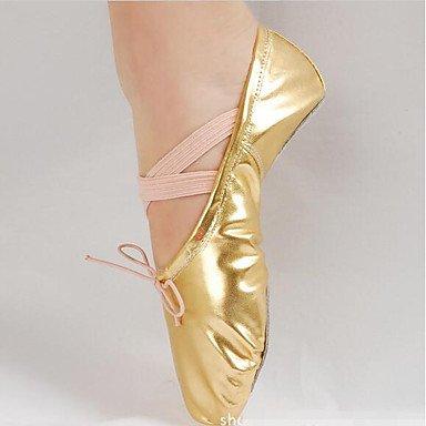 Wuyulunbi@ Donna Ballet Pu Tessuto Suola piena pratica tacco piatto Oro Argento personalizzabile US6 / EU36 / UK4 / CN36