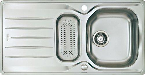 Preisvergleich Produktbild Franke Libera LIX 651 Edelstahl glatt Küchenspüle Spülbecken Auflagespüle Einbau