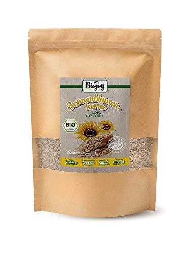 BIO-Sonnenblumenkerne geschält, auf über 500 Pestizide geprüft (1,5 kg) | Kerne für Salat-Mix & Desserts, zum Brot-Backen und Knabbern | ohne Schale, naturbelassen & ungesalzen