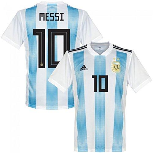 Argentinien Home Trikot 2018 2019 + Messi 10 - XL (Home Argentinien Trikot)