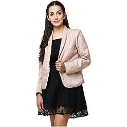 Yepme Women's Beige Cotton Blazers - YPMBLZR5008_XL
