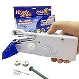 Anbaituor Mini Handheld Nähmaschine, Tragbare Handnähmaschine Elektrische Nähmaschine Schneller Handlicher für Kleidung Stoff Vorhang DIY Haushalt und Reisenutzung