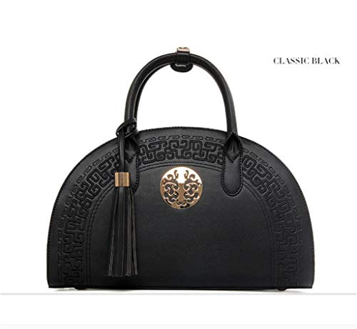 Sac@bb Damentasche Bridal Bag Schultertasche China National Wind Embroidered Love Gift,Black