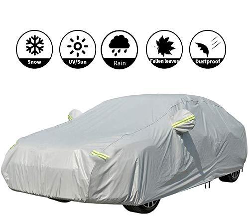 VISLONE Bâche Voiture Housse de Protection Etanche Couverture Auto Anti-poussière UV Soleil Neige Pluie Bandes de Sécurité avec des Bandes réfléchissantes