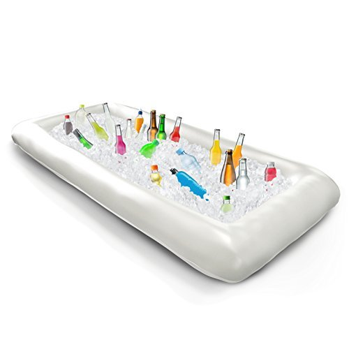 Kitchen Dreamers Aufblasbare Kühlwanne, Pool-Bar, Getränkehalter, mit Ablaufstopfen–Halten Sie Ihre Salate und Getränke eiskalt–Für Partys, Innen- und Außenbereich, Party-Zubehör