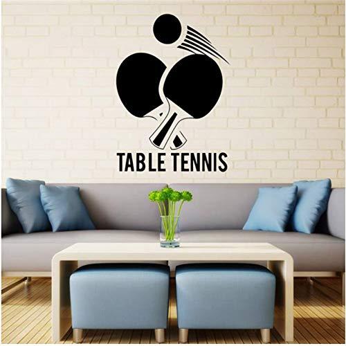 Wandaufkleber Tischtennis Wand Aufkleber Ping Pong Gym Vinyl Aufkleber Kunst Decor Sport Wandbild 41X57cm
