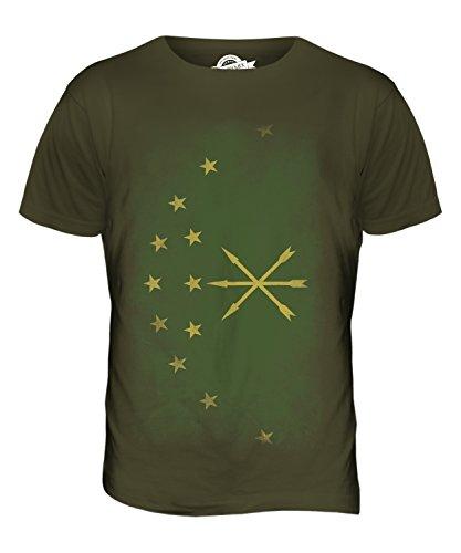 CandyMix Adygeja Verblichen Flagge Herren T Shirt Khaki Grün