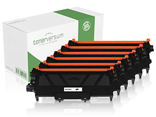 6 Jumbo XXL Toner kompatibel zu Brother TN-2220 Schwarz Druckerpatronen für DCP-7060d DCP-7065dn HL-2250dn MFC-7460dn MFC-7360n MFC-7360ne Fax 2840 Spar-Set