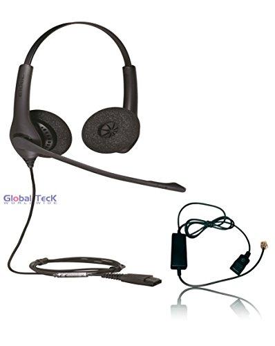 Jabra Biz 1520 Headset, Headset, Telefonschnittstelle, RJ9-Telefone, VoIP, Digital: Cisco, Mitel, ShoreTel, Aastra, Toshiba, Nortel, Yealink 1525 Binaural Bundle Nortel Digital-sets