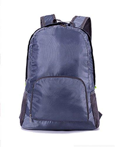 Ruanlei @tela casual zaini viaggio/ laptop backpack/multifunzione zaino business/ backpack resistente all'acquaesterno impermeabile di piegatura doppia corsa borsa a tracolla, grigio chiaro26 pollici