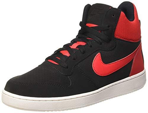 Nike Herren Court Borough Mid Basketballschuhe, Black (Schwarz/Action-Rot-Weiß), 41 EU (Weiße Rote Und Jordans)