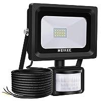 Security Lights with Motion Sensor, MEIKEE 10W PIR Light, Super Bright 1000Lumen LED Sensor Flood Lights Outdoor, IP66 Waterproof Perfect for Garage, Garden and Forecourt