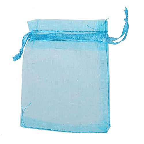 Gift Bags - SODIAL(R)10 PCS 7x9cm Organza Jewelry Candy Gift Pouch Bags Wedding Xmas Favors Royal blue