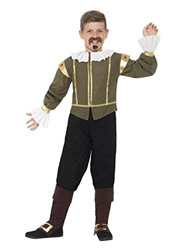 Smiffys Kinder Kostüm Shakespeare Tudor Prinz Karneval Fasching 7 bis 9 ()