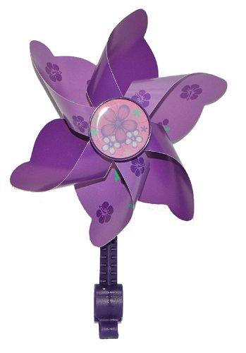 alles-meine.de GmbH Fahrradwindmühle für Kinder -  lila  - passend auch für Roller, Dreirad, Laufrad - Fahrrad Windrad Windmühle Deko Zubehör - Mädchen & Jungen - Kinderfahrrad.. -