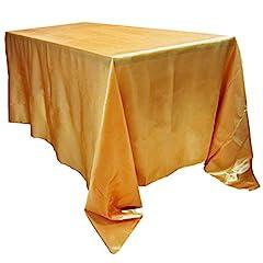 Idea Regalo - BIT.FLY 228 * 335CM Tovaglia Rettangolare in Raso per Decorazioni/Eventi per Matrimoni/Feste - d'oro
