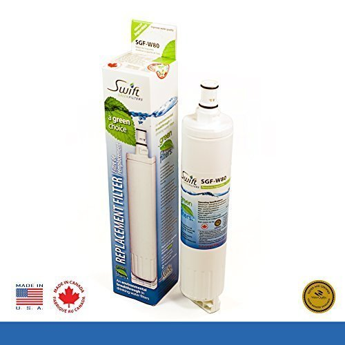 Swift Green SGF-W80 Refrigerator Filter Compatible with Whirlpool 4396508<BR>