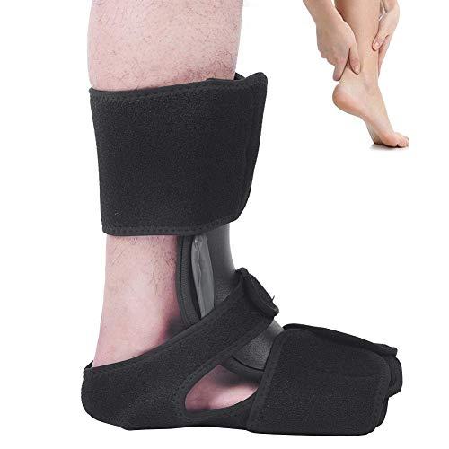 Nachtschiene, Tendinitis Fuß Unterstützung Fuß Drop Orthesen Aluminiumschiene Klammer Plantar Fasciitis Fester Support Knöchelorthese für beide Links und Rechts Fußschutz(S/M) -