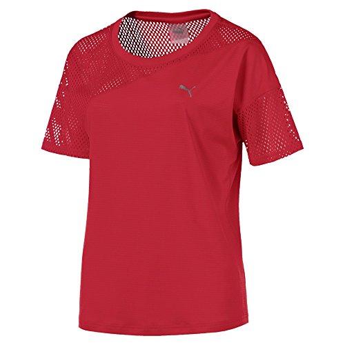 Puma Damen A.C.E Mesh Blocked T Shirt, Ribbon Red, M