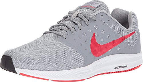 NIKE Mens Downshifter 7 Wolf Grey RED Stealth Black Size 11.5