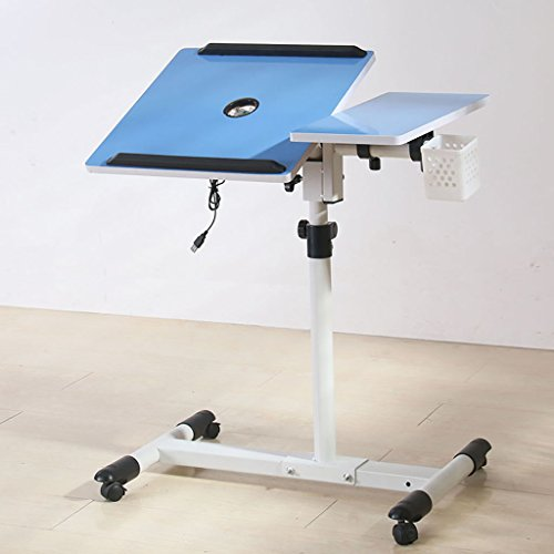 Mobile 5-regal Bücherregal (Kompakte Form, leicht zu bewegende Rollen Nachttisch Rotierende Mobile Lift Notebook Computer Schreibtisch Wirtschaftlich ( Farbe : 5# ))