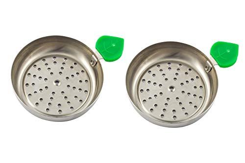 Plato para carbón manzana de cachimba shisha hookah - Muy cómodo y fácil de utilizar Dos