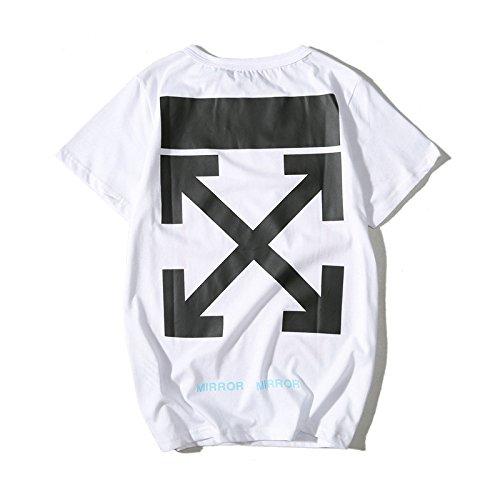BOMOVO Herren OFF WHITE Valueweight T Rundhals T-Shirt Weiß