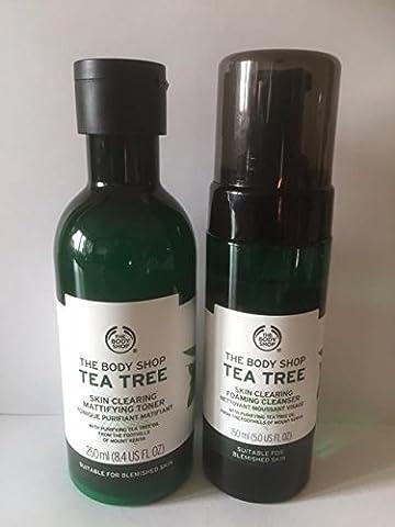 Teebaum Haut Clearing schäumenden Reinigungsmittel 150ml + Teebaum Gesichtswasser 250ml für Unreine Hau Tea Tree Skin Clearing Foaming Cleanser 150ml +Tea Tree Facial Toner 250ml FOR BLEMISHED SKIN