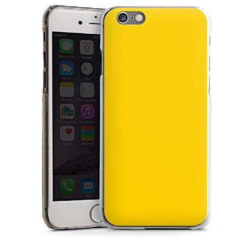 Apple iPhone 4 Housse Étui Silicone Coque Protection Jaune Jaune soleil Printemps CasDur transparent