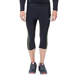 Ultrasport Herren Laufhose, 3/4 lange Fitnesshose für Männer, mit Kompressionswirkung und Quick-Dry, für alle Sportarten geeignet