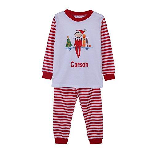 PanDaDa Weihnachten Familie Passende Pyjamas Streifen Pjs Set Mom Dad Kid Outfits Set für Weihnachten