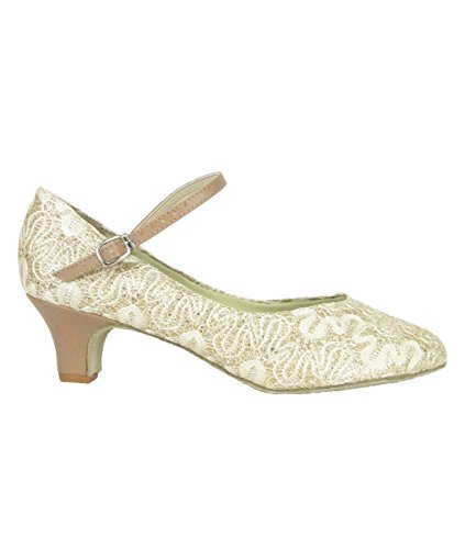 So Danca Latein Salsa Rumba Tango Tanz Schuhe BL 116 Chromledersohle, Absatz 3,8 cm sparkle gold