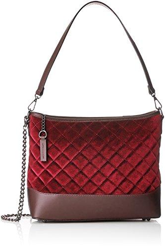Chicca Borse 8823, Borsa a Spalla Donna, 31x25x11 cm (W x H x L) Rosso (Bordo)