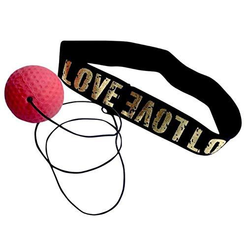 GUANLIAN Roter Kugelkopf-Set für Boxreaktionstraining, Hand-Augen-Boxreflexkugel zur Verbesserung der Reaktionsfähigkeit, für Anfänger