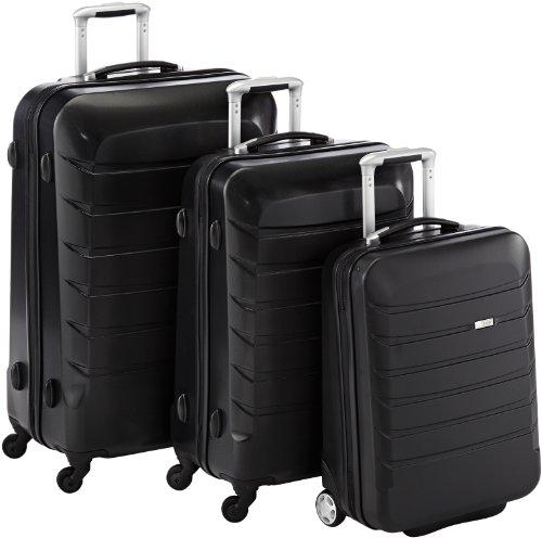 Titan Koffer-Set Armoura 3 teilig, 77 cm, 199 Liter, Black - Safety Bag First