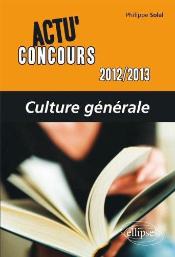 Culture Générale 2012-2013