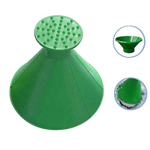 TLHOME Schaber, Schneeschaber, Schneeschaber, magische kegelförmige Windschutzscheibe, Eiskratzer Schneeschaufel (3 Stück) grün