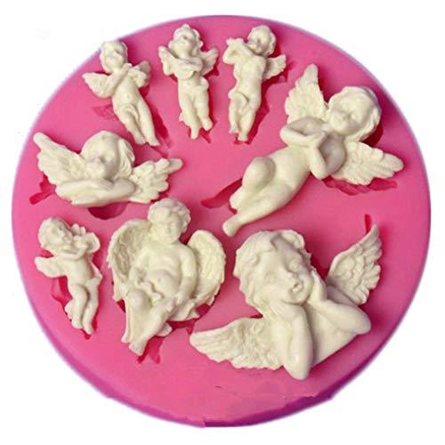 ODN Engel Baby Silikon Form Gumpaste Schokolade Fimo Clay Süßigkeiten Formen Fondant Kuchen Dekorieren Werkzeuge DIY Cupcake Backformen